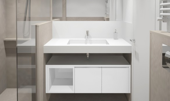Xavier Gero Interiorismo Barcelona baño con ducha
