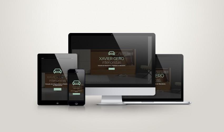 Xavier Gero Interiorismo nueva web responsive adaptada a todos los dispositivos