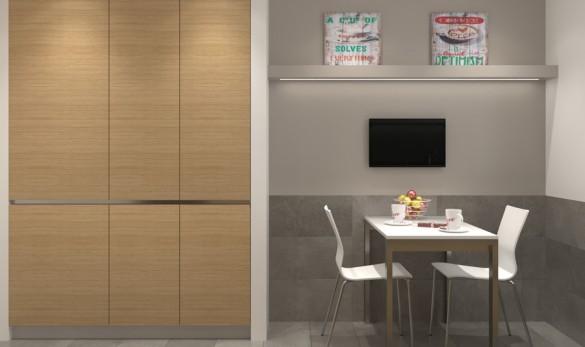 Xavier Gero Interiorismo render cocina concepto abierto Art