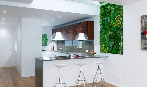 Xavier Gero Interiorismo render cocina abierta proyecto Cerdanyola