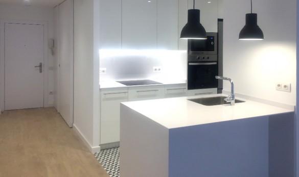 Xavier Gero interiorisme reforma itegral de un piso en la calle Bonavista, vista de la cocina.